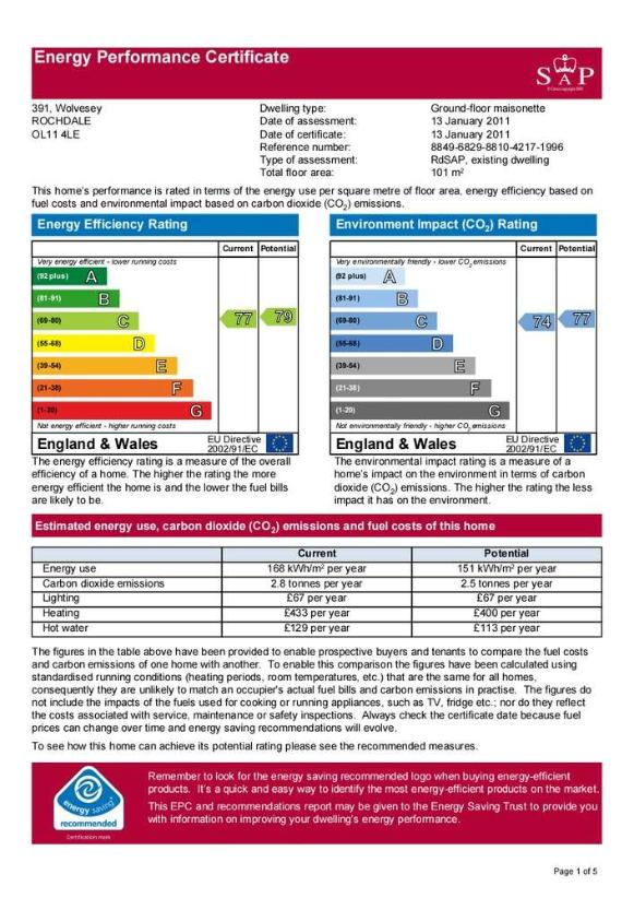 Energy Performance Certificate images